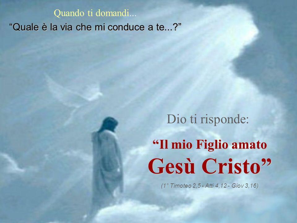 Gesù Cristo Dio ti risponde: Il mio Figlio amato