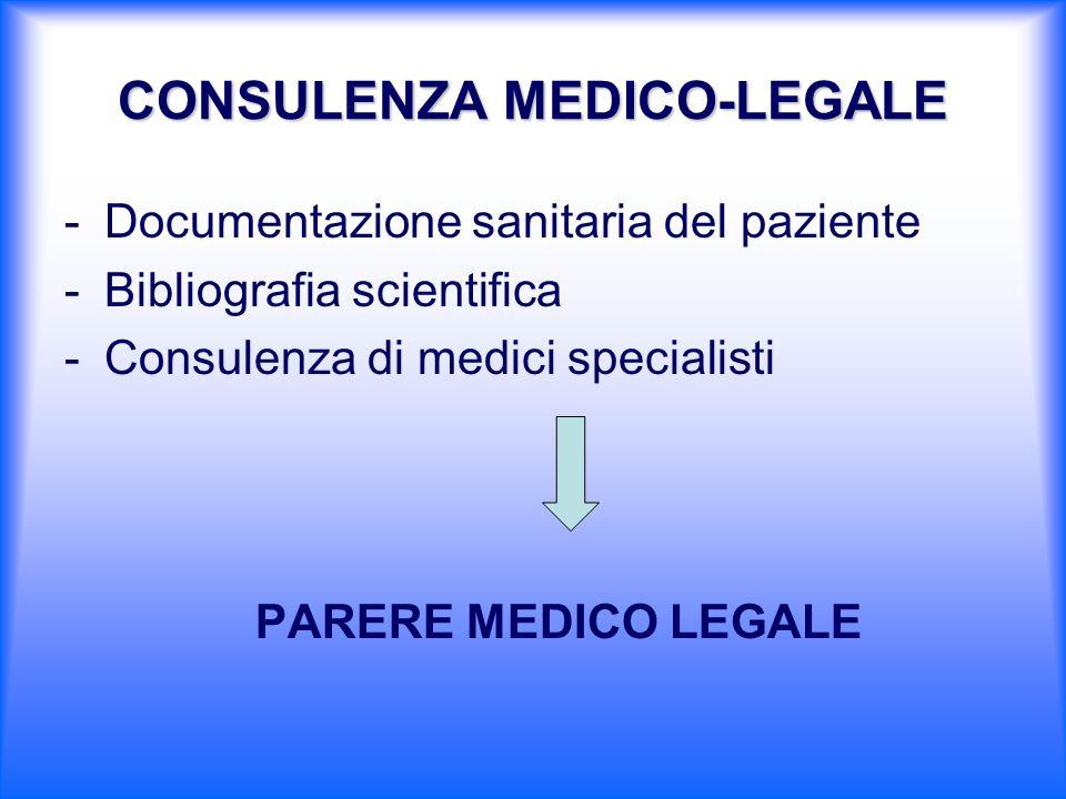 CONSULENZA MEDICO-LEGALE