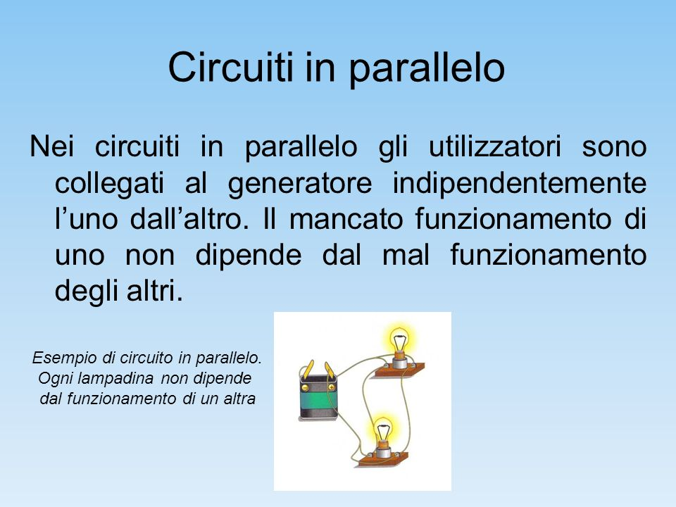 Circuiti in parallelo