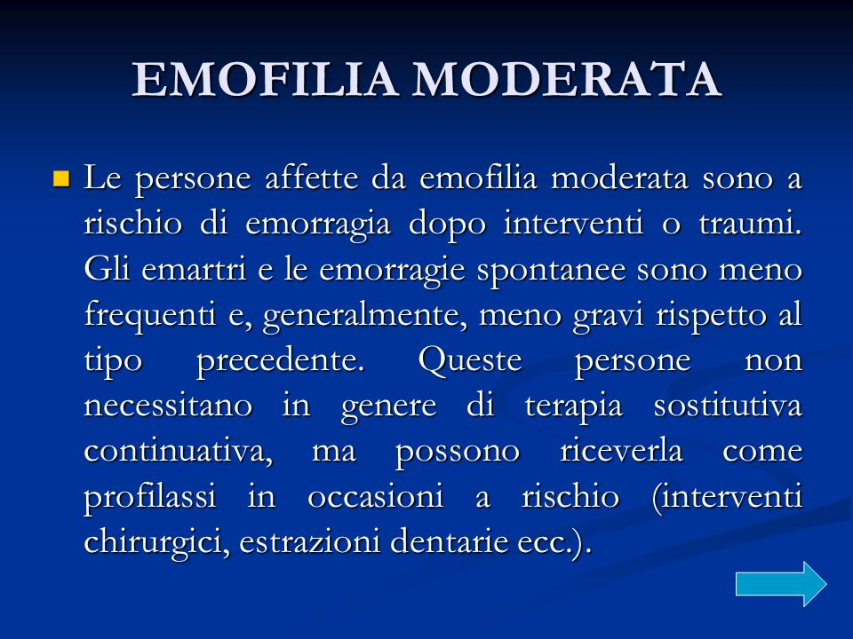 EMOFILIA MODERATA