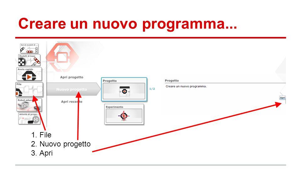 Creare un nuovo programma...