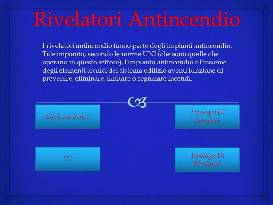 Rivelatori Antincendio