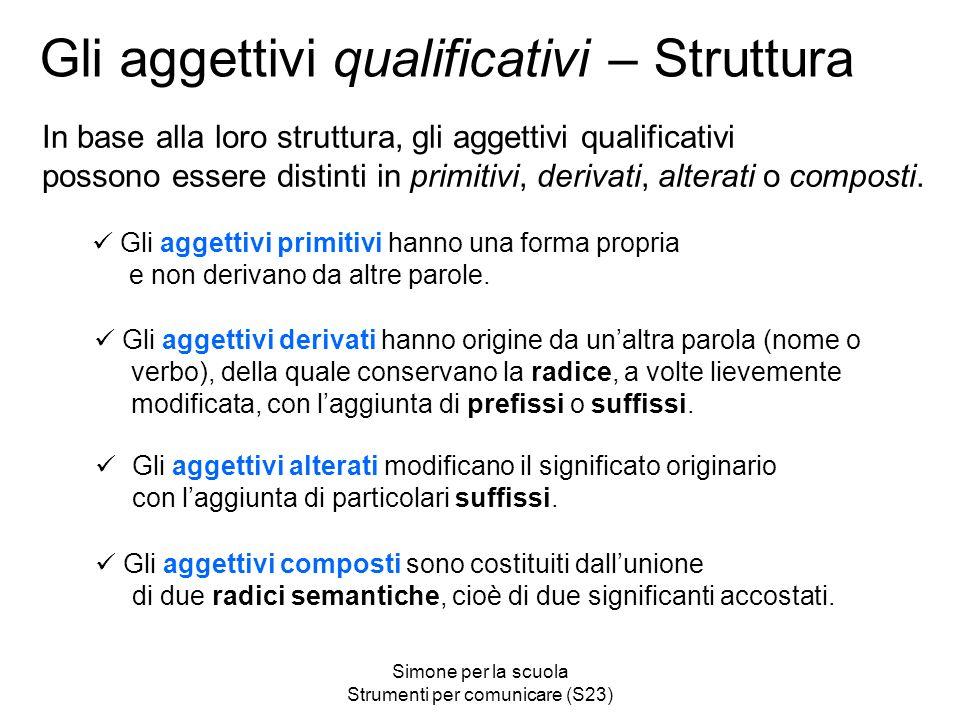 Gli aggettivi qualificativi – Struttura