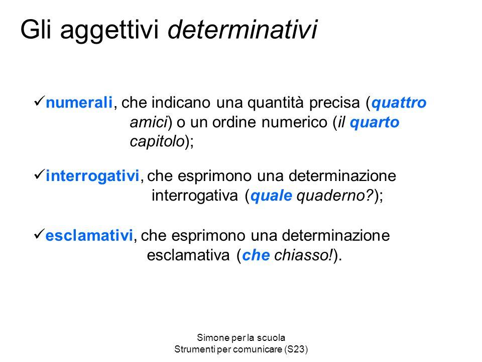 Gli aggettivi determinativi