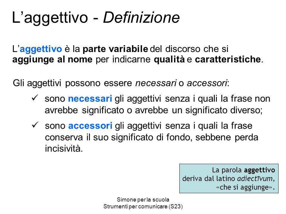 L'aggettivo - Definizione