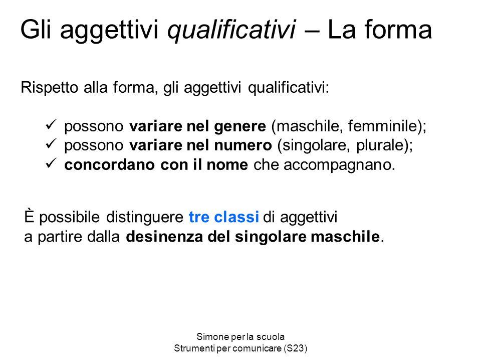 Gli aggettivi qualificativi – La forma