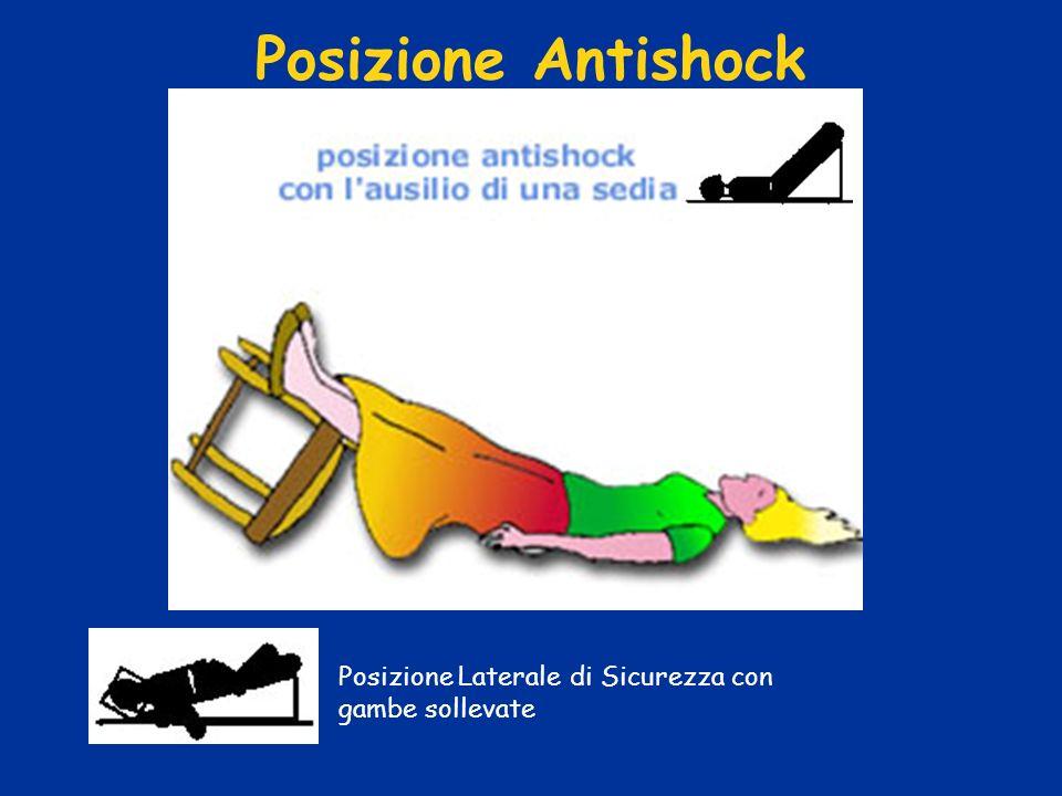 Posizione Antishock Posizione Laterale di Sicurezza con gambe sollevate