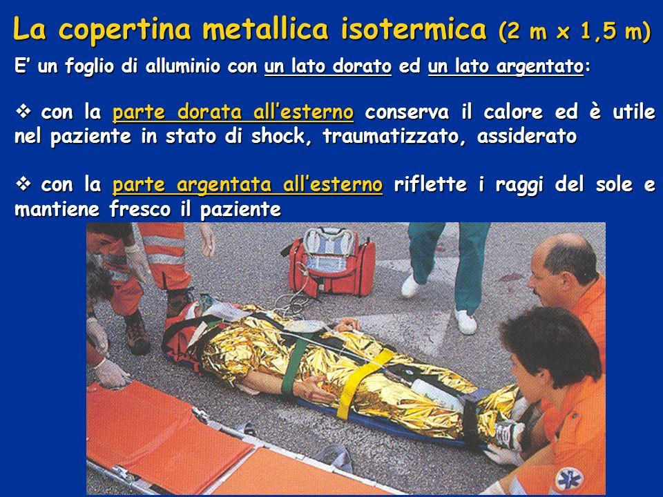 La copertina metallica isotermica (2 m x 1,5 m)