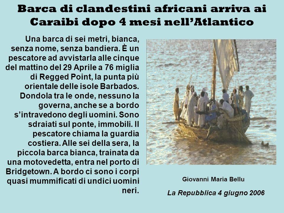 Barca di clandestini africani arriva ai Caraibi dopo 4 mesi nell'Atlantico