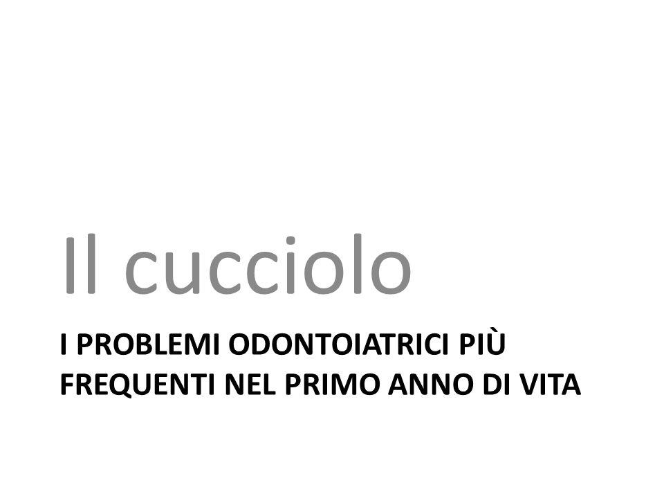 I PROBLEMI ODONTOIATRICI Più FREQUENTI NEL PRIMO ANNO DI VITA