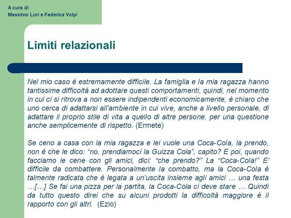 A cura di Massimo Lori e Federica Volpi. Limiti relazionali.