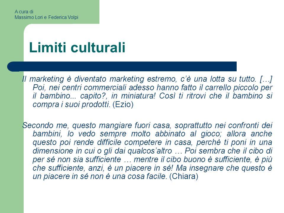 A cura di Massimo Lori e Federica Volpi. Limiti culturali.