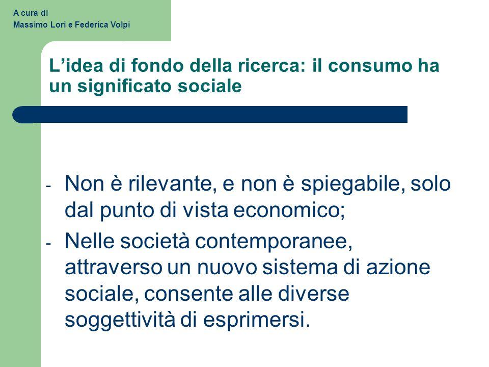 L'idea di fondo della ricerca: il consumo ha un significato sociale