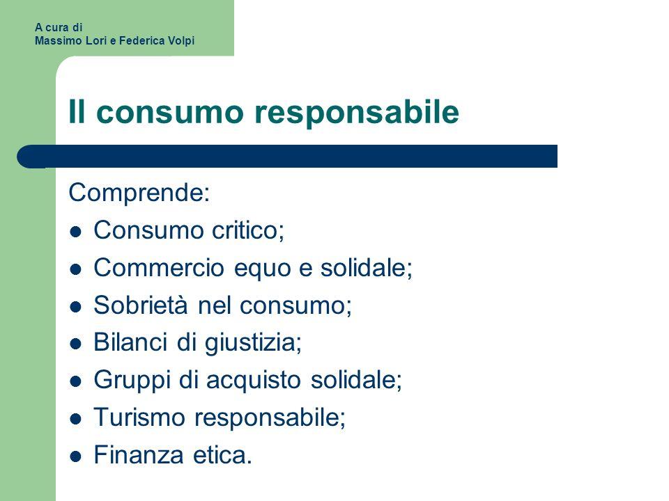 Il consumo responsabile