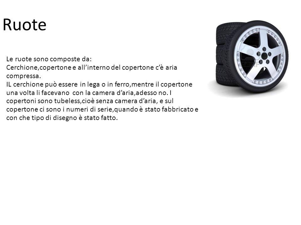 Ruote Le ruote sono composte da: