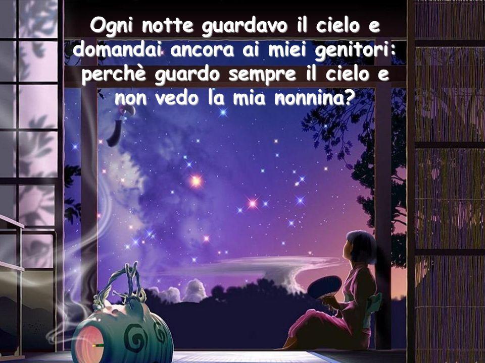 Ogni notte guardavo il cielo e domandai ancora ai miei genitori: perchè guardo sempre il cielo e non vedo la mia nonnina