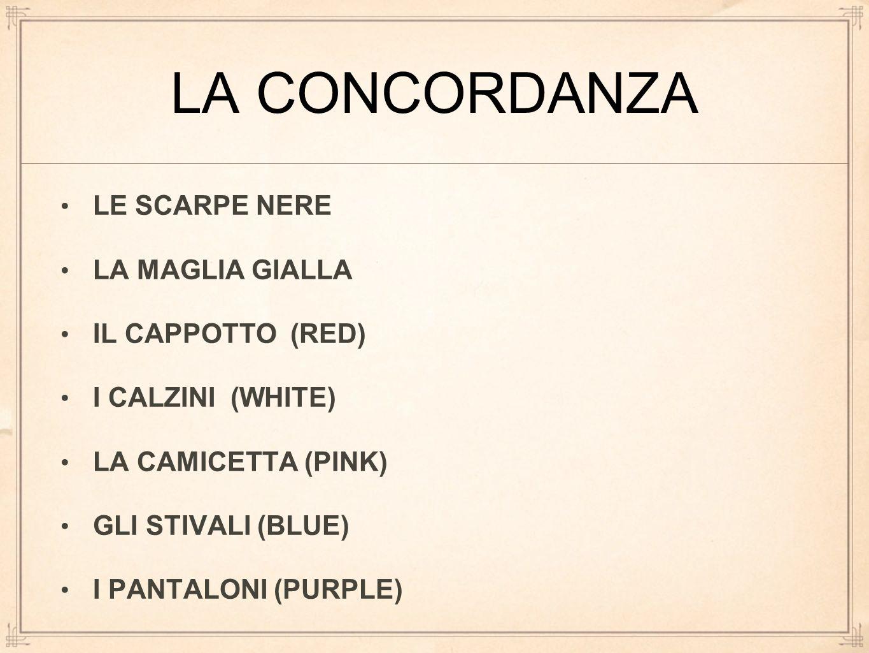 LA CONCORDANZA LE SCARPE NERE LA MAGLIA GIALLA IL CAPPOTTO (RED)
