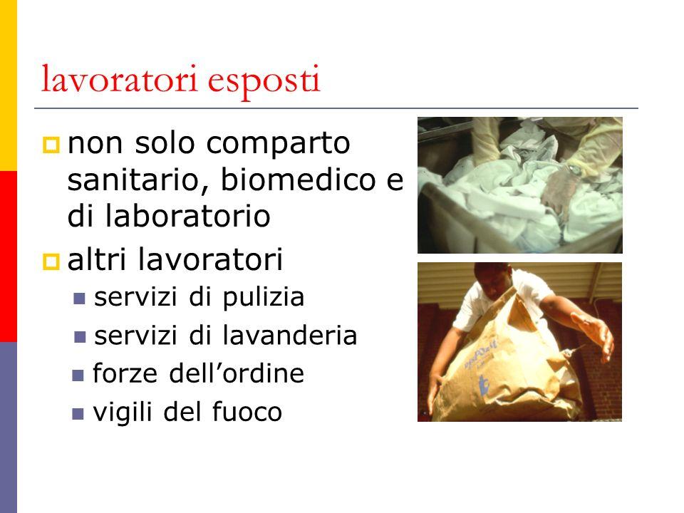lavoratori esposti non solo comparto sanitario, biomedico e di laboratorio. altri lavoratori. servizi di pulizia.
