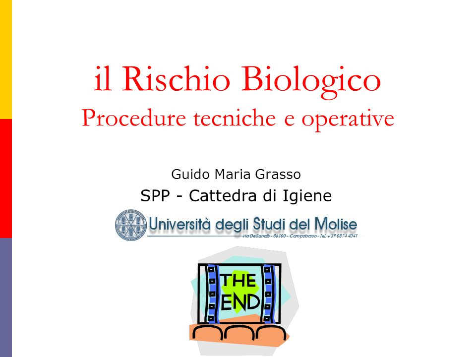 il Rischio Biologico Procedure tecniche e operative