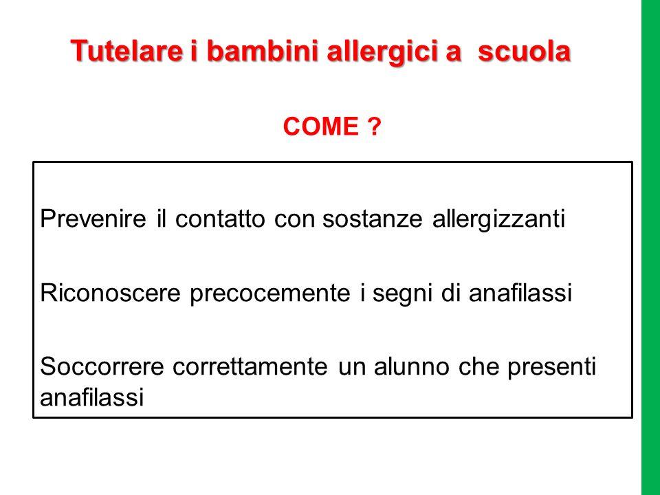 Tutelare i bambini allergici a scuola
