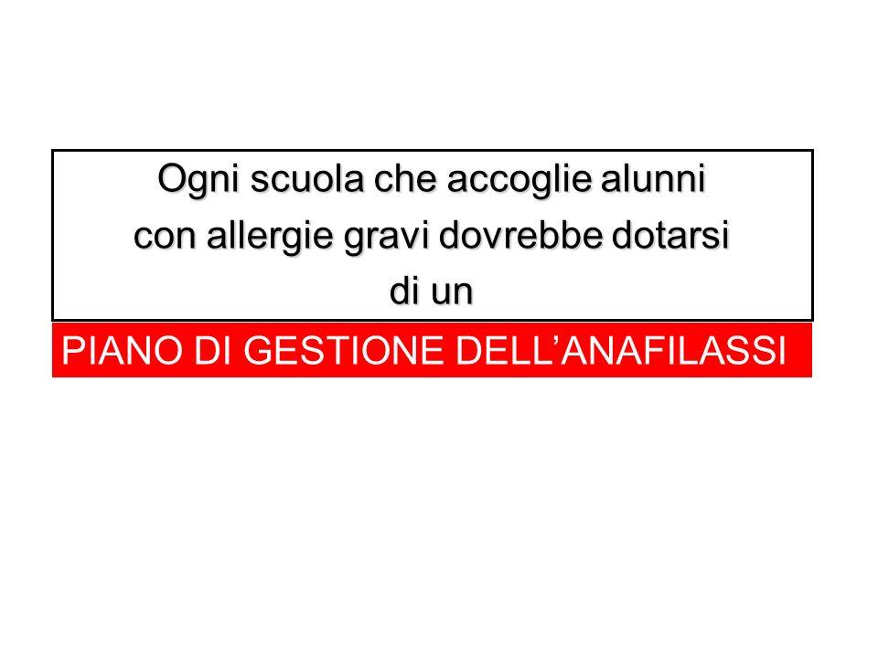 Ogni scuola che accoglie alunni con allergie gravi dovrebbe dotarsi