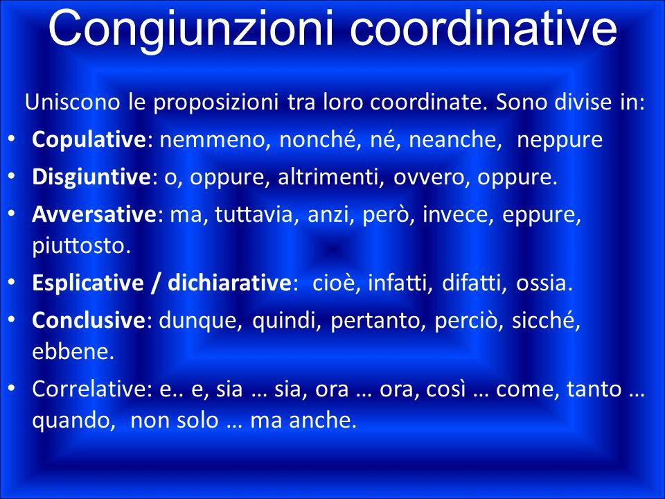 Congiunzioni coordinative