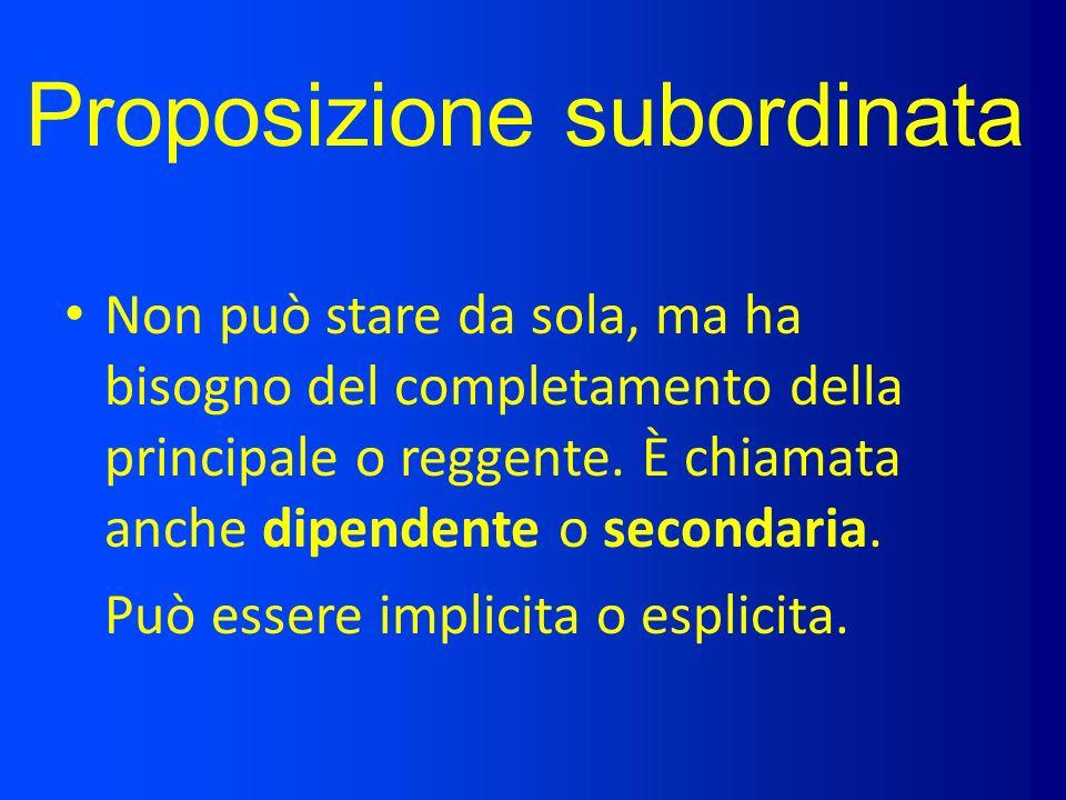 Proposizione subordinata