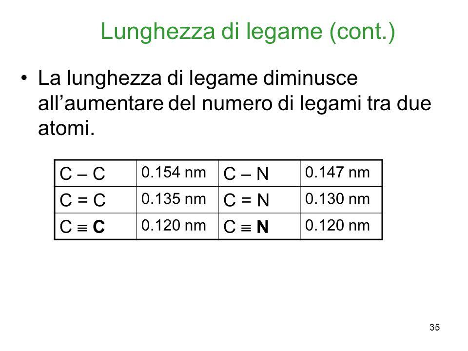 Lunghezza di legame (cont.)