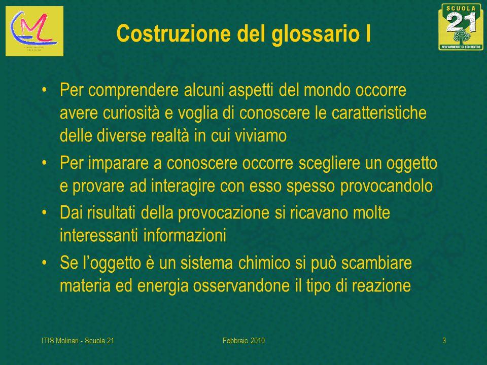 Costruzione del glossario I