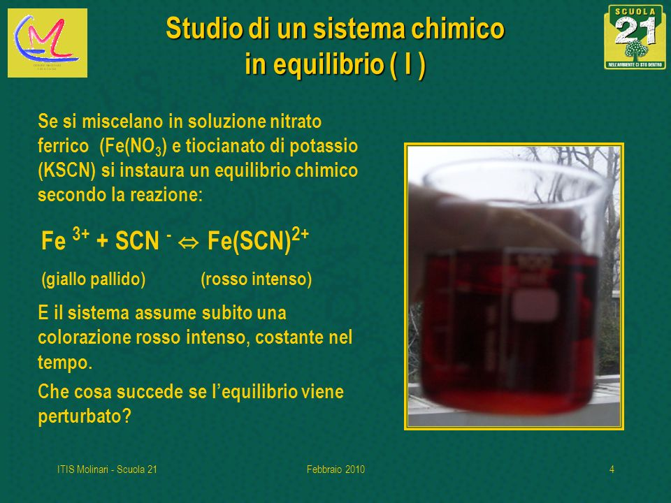 Studio di un sistema chimico in equilibrio ( I )