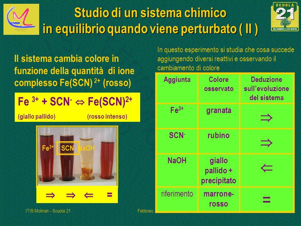 Deduzione sull'evoluzione del sistema giallo pallido + precipitato