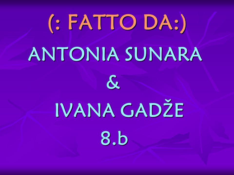 (: FATTO DA:) ANTONIA SUNARA & IVANA GADŽE 8.b