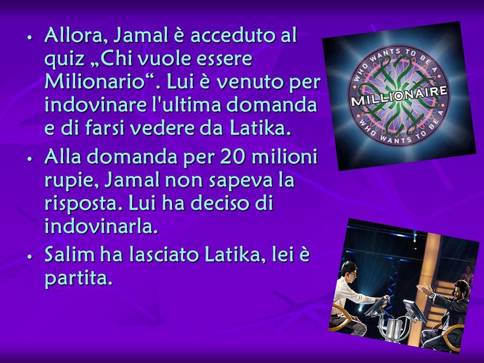 """Allora, Jamal è acceduto al quiz """"Chi vuole essere Milionario"""
