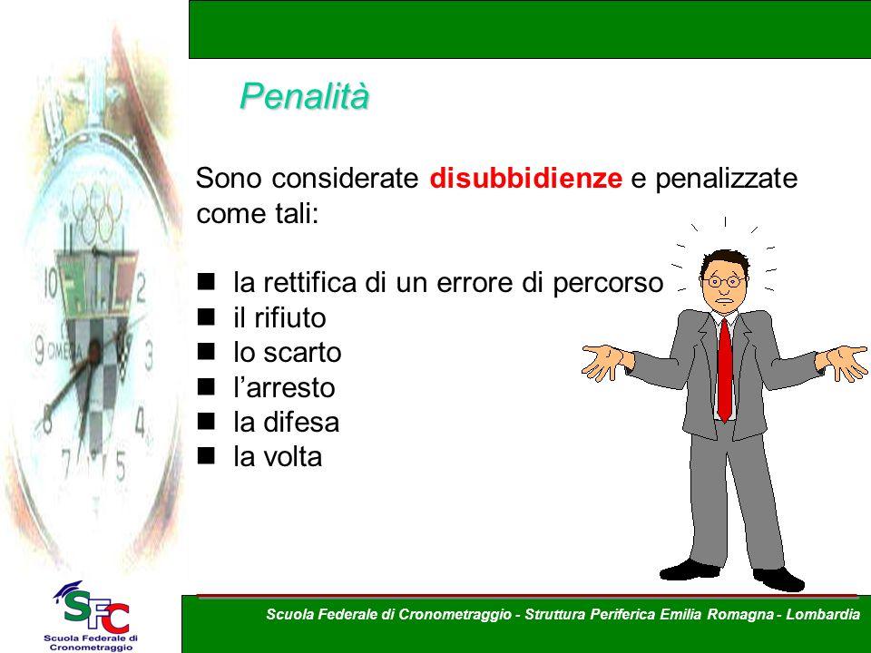 Penalità Sono considerate disubbidienze e penalizzate come tali: