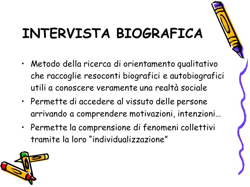 INTERVISTA BIOGRAFICA