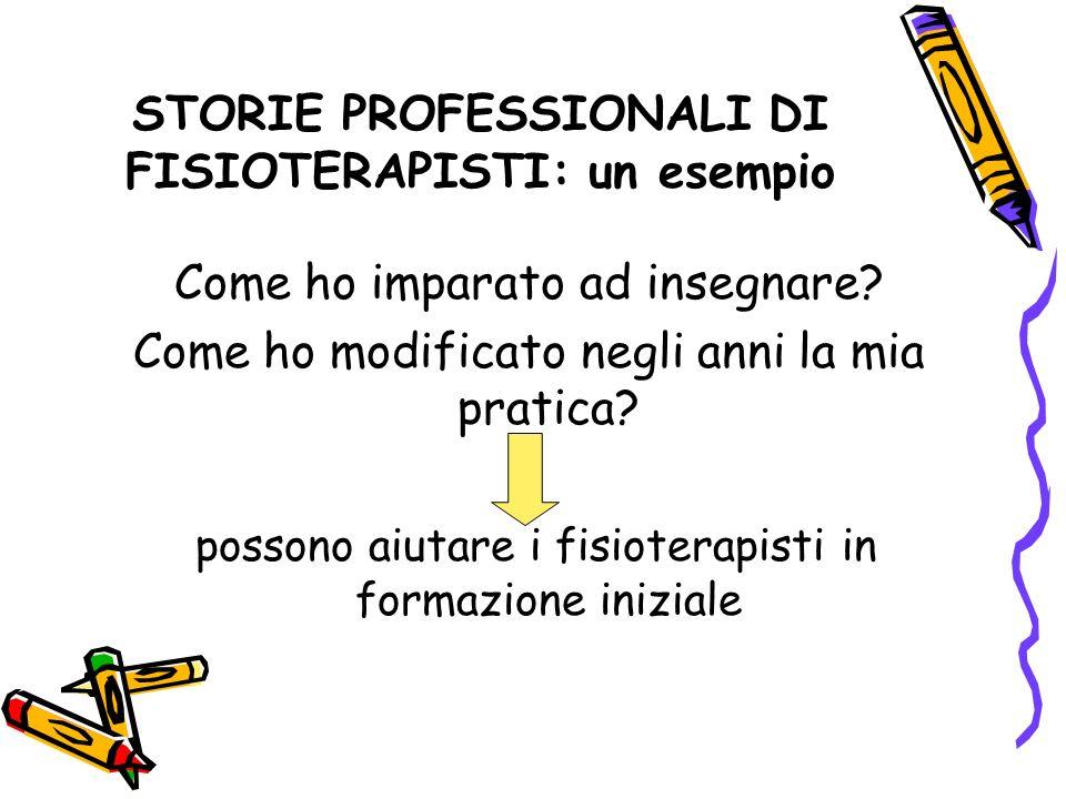 STORIE PROFESSIONALI DI FISIOTERAPISTI: un esempio