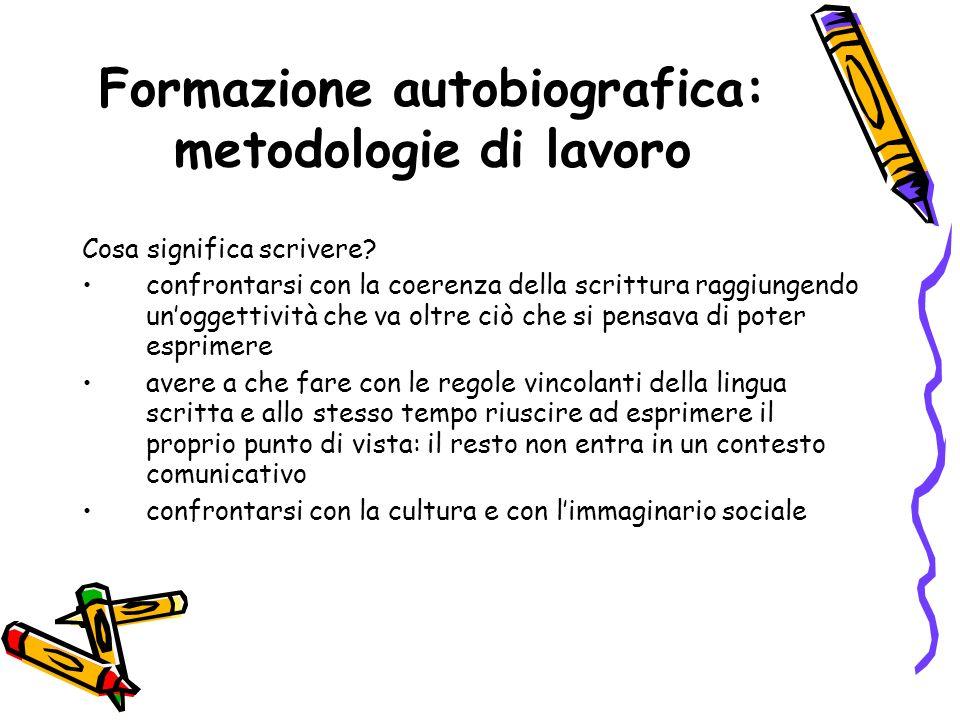Formazione autobiografica: metodologie di lavoro