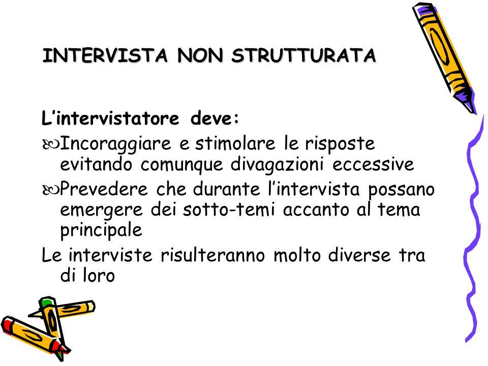 INTERVISTA NON STRUTTURATA