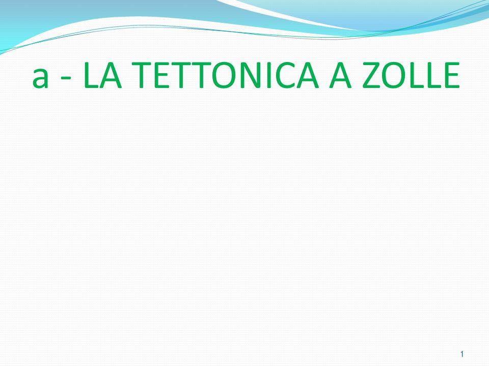 a - LA TETTONICA A ZOLLE