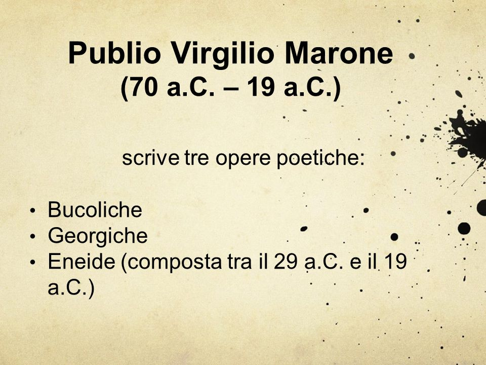 Publio Virgilio Marone (70 a.C. – 19 a.C.)