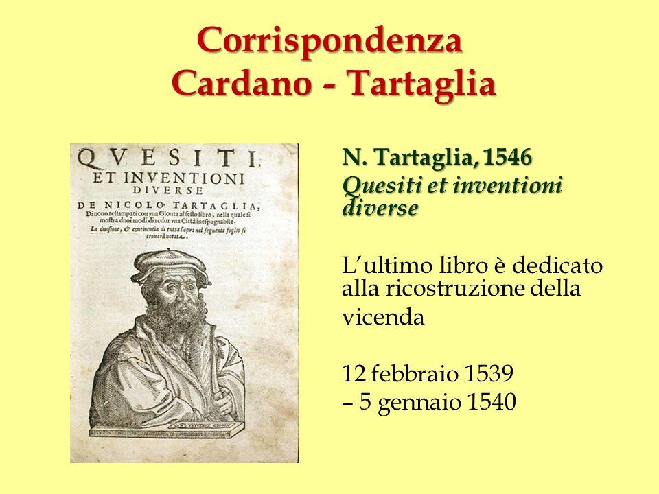 Corrispondenza Cardano - Tartaglia