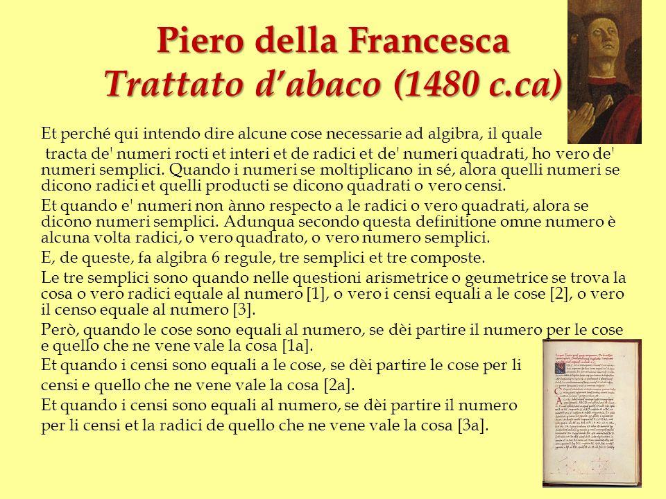 Piero della Francesca Trattato d'abaco (1480 c.ca)
