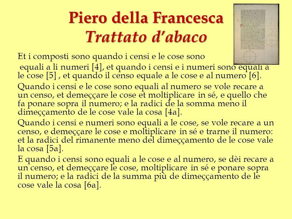 Piero della Francesca Trattato d'abaco