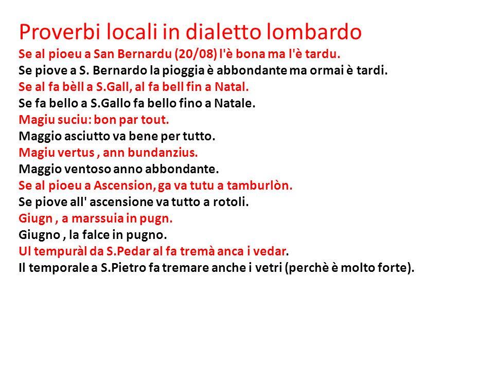 Proverbi locali in dialetto lombardo
