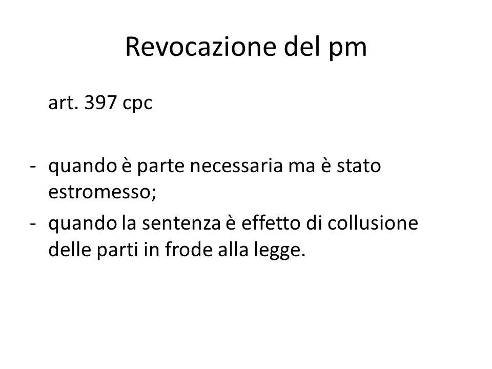 Revocazione del pm art. 397 cpc
