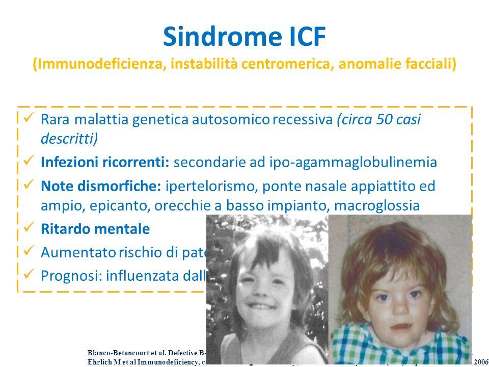 Sindrome ICF (Immunodeficienza, instabilità centromerica, anomalie facciali)