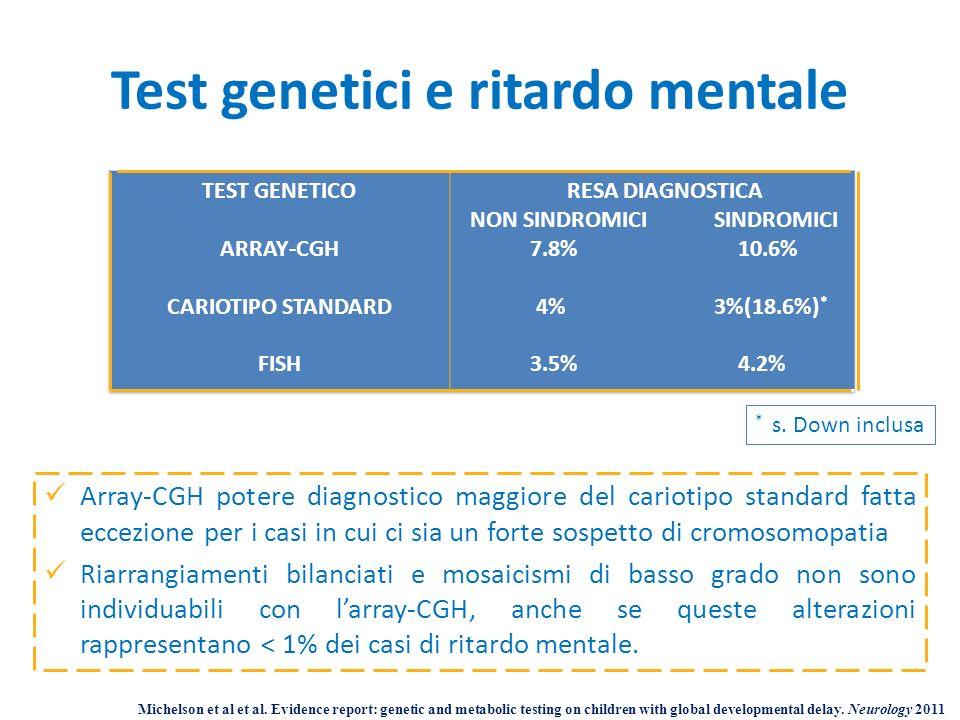 Test genetici e ritardo mentale