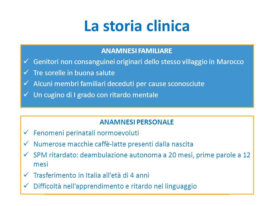 La storia clinica ANAMNESI FAMILIARE