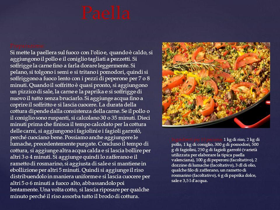 Paella Preparazione:
