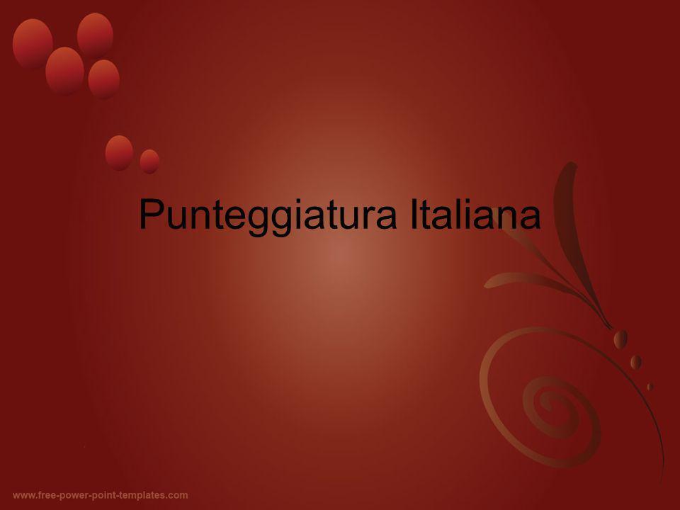 Punteggiatura Italiana